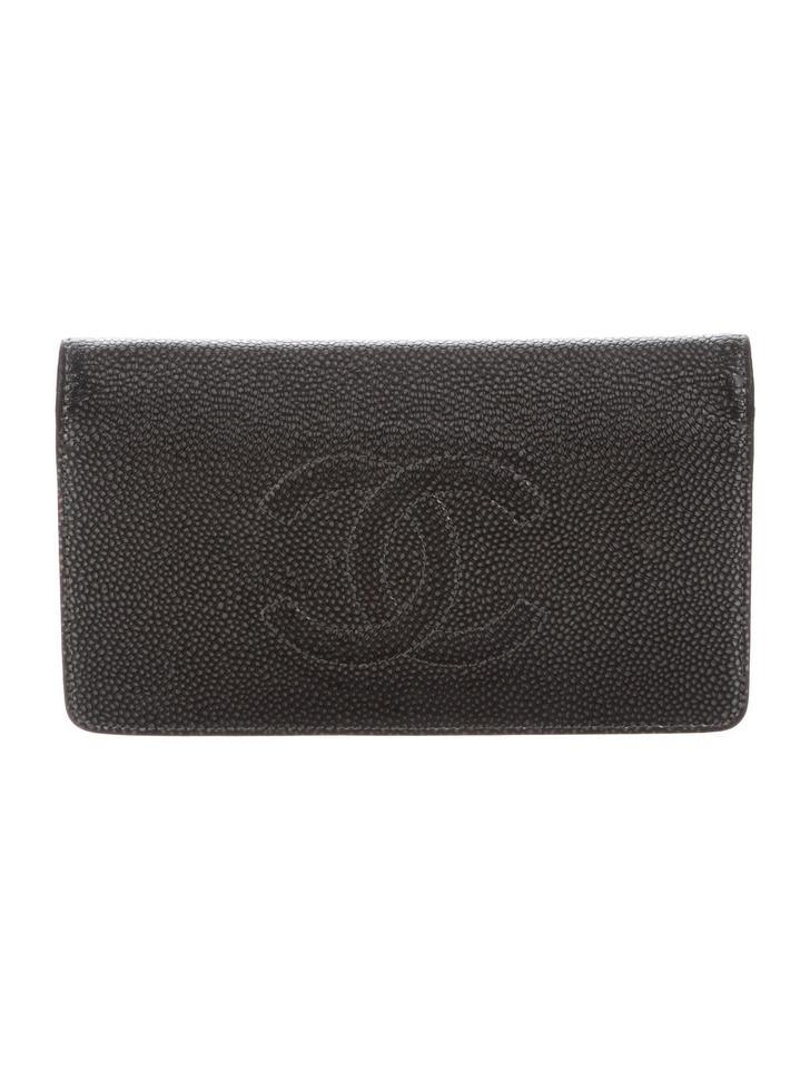 9bd848da75fc Chanel Black Timeless Yen Cc Logo Caviar Leather Wallet - Tradesy