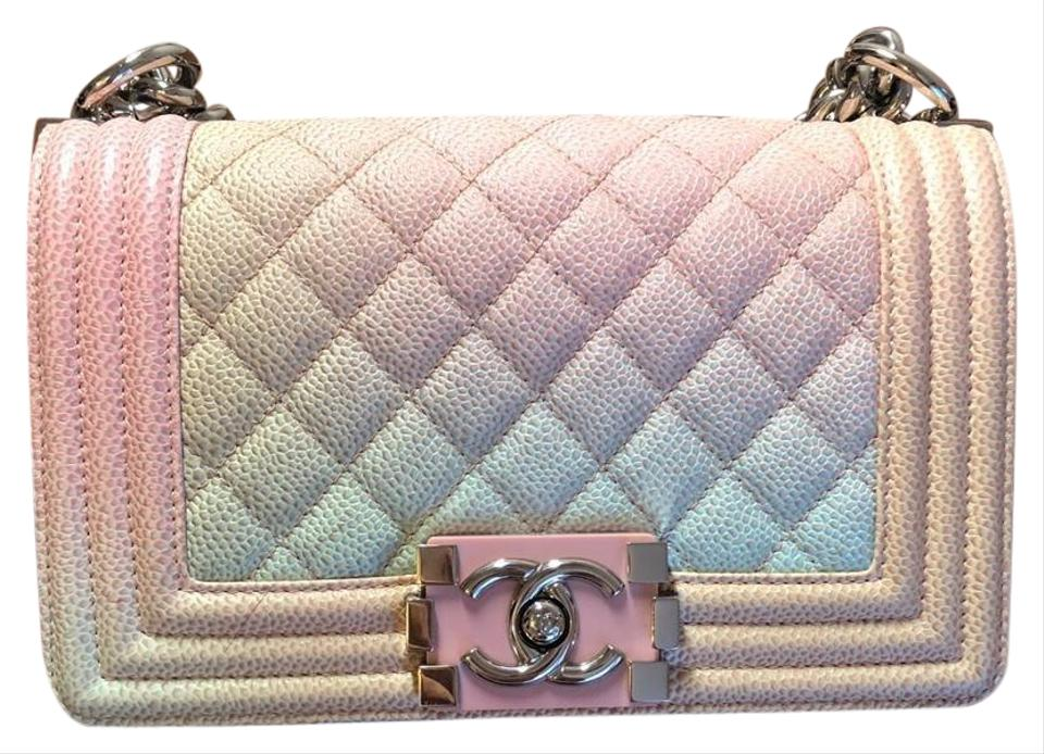 64be13f04f33 Chanel Boy Small Rainbow Le Caviar Cross Body Bag - Tradesy