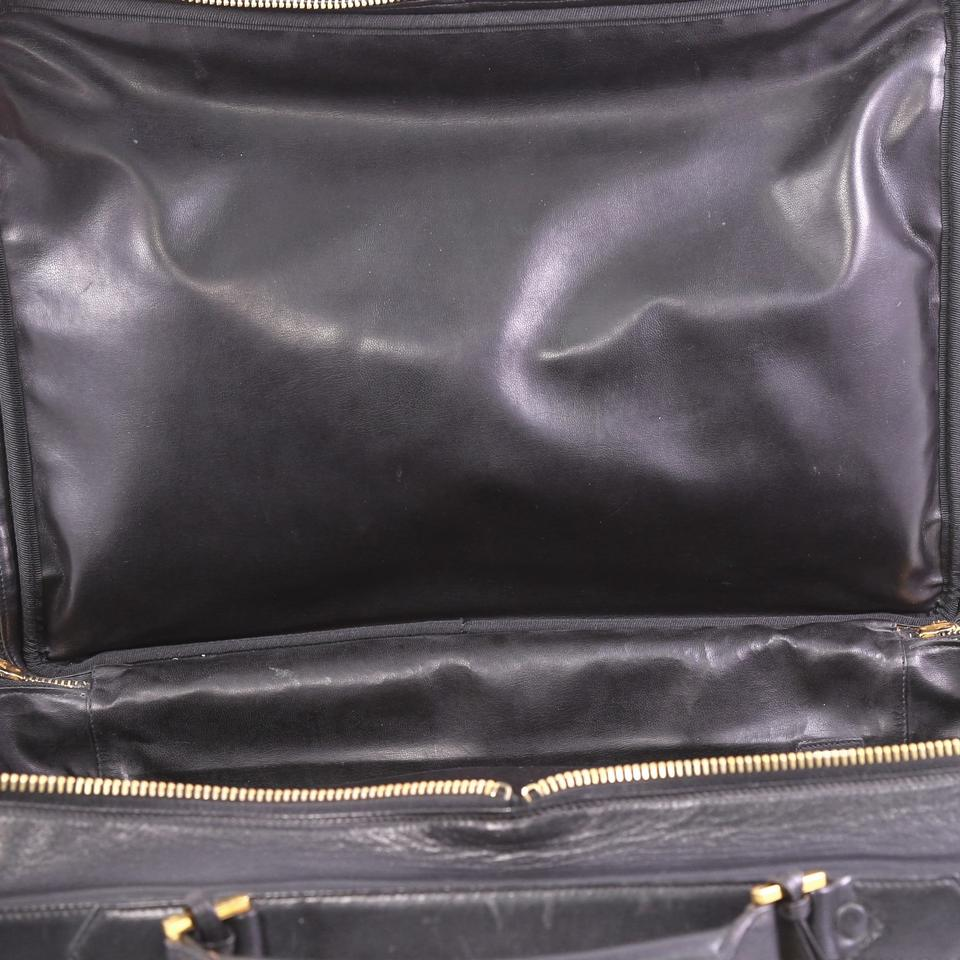 96661d6c4 Chanel Vintage Diamond Stitch Quilted Large Black Lambskin Leather Weekend/Travel  Bag - Tradesy
