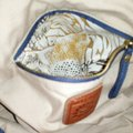 Lucky Brand Extra Large Cream Canvas Tote in Blue white and salmon Image 10
