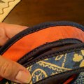 Lucky Brand Extra Large Cream Canvas Tote in Blue white and salmon Image 3