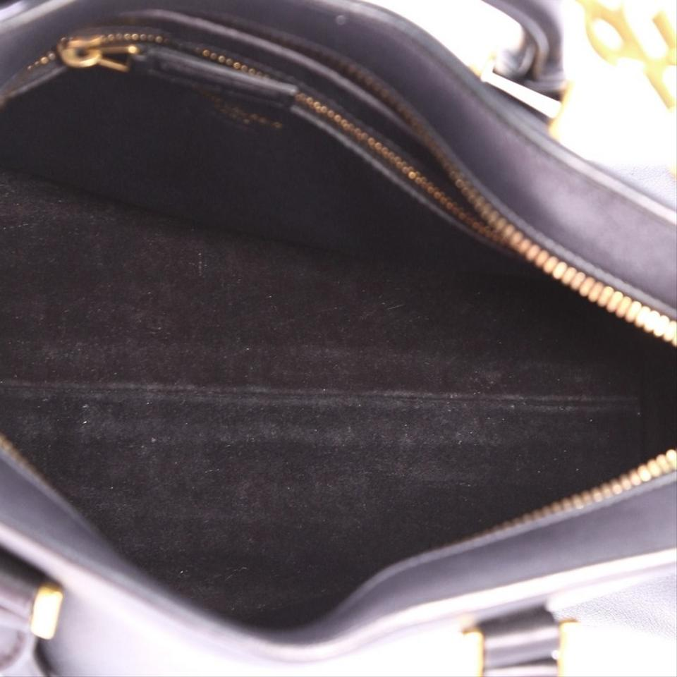 Saint Laurent Monogram Cabas Downtown Small Black Leather Tote - Tradesy d9947dbd01