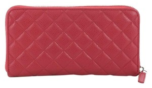 Chanel Wallet Leather pink Clutch