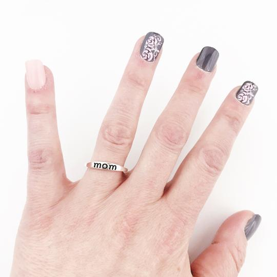 Other Cute Mom Ring: Mother's Day or Mom To Be, Silver-tone, Delicate Image 1