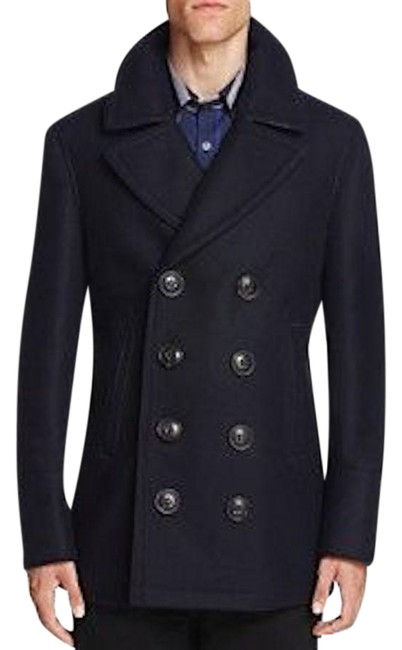 Burberry Mens Jacket Wool Double Breasted Trench Coat Image 0