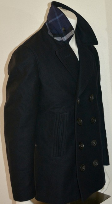 Burberry Mens Jacket Wool Double Breasted Trench Coat Image 3