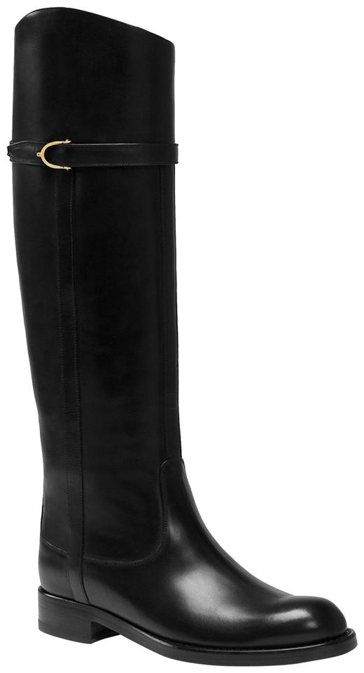 eccc03956 Gucci Black Elenora Tall Riding Boots/Booties Size EU 38 (Approx. US ...