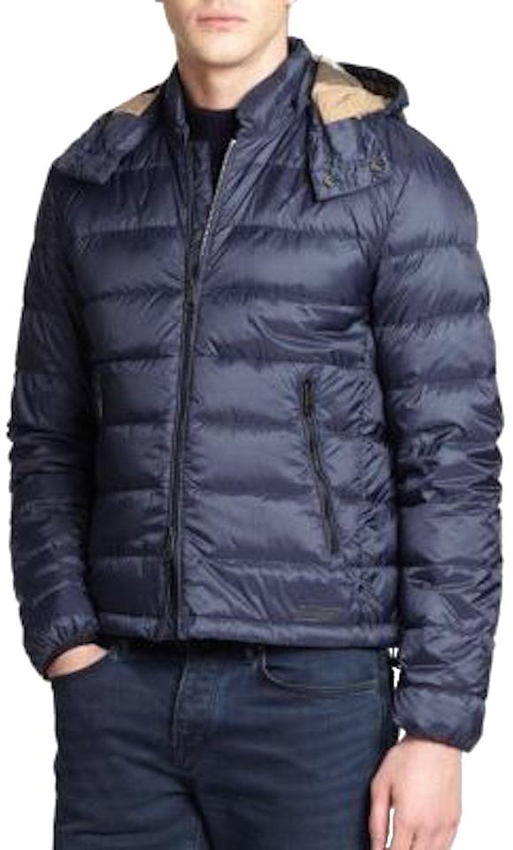 55ae32735 Burberry Navy Mens Goose Down Quilted Puffer Jacket Xsmall Coat Size ...