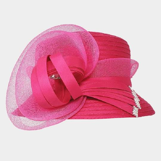 kentucky derby hat New Formal Bow Accented Flower Dressy Hat Image 2