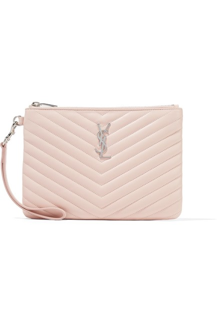 Item - Monogramme Quilted Pouch Pink Leather Wristlet