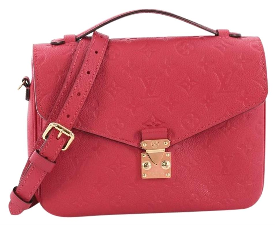Louis Vuitton Pochette Metis Monogram Empreinte Pink Leather ... 2c41080862d0f
