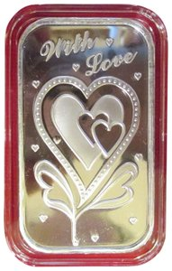 WITH LOVE With Love-1-oz-Silver Bar (In capsule) with Gift Bag