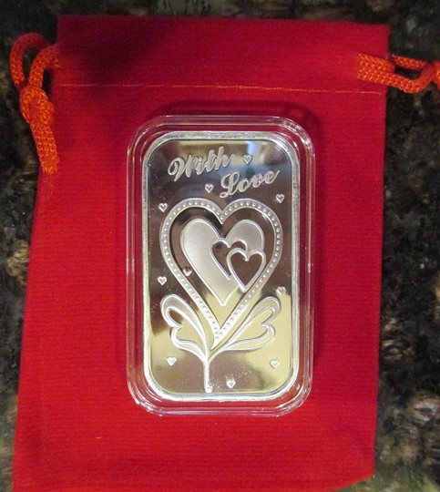 WITH LOVE With Love-1-oz-Silver Bar (In capsule) with Gift Bag Image 2