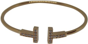Tiffany & Co. T-Wire Diamond 18k Bracelet medium size