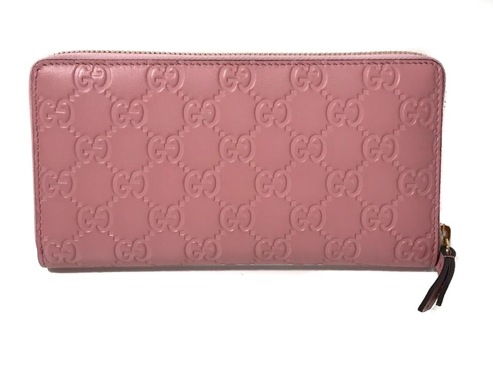 d18752388ffc Gucci Pink Women's 410105 Leather Gg Guccissima Continental Wallet - Tradesy
