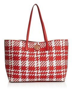 Tory Burch Tote in CHERRY APPLE/WHITE/IVORY