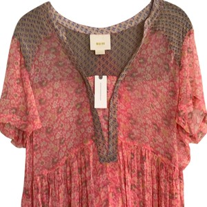 Mauve short dress pink bright pink beigh on Tradesy