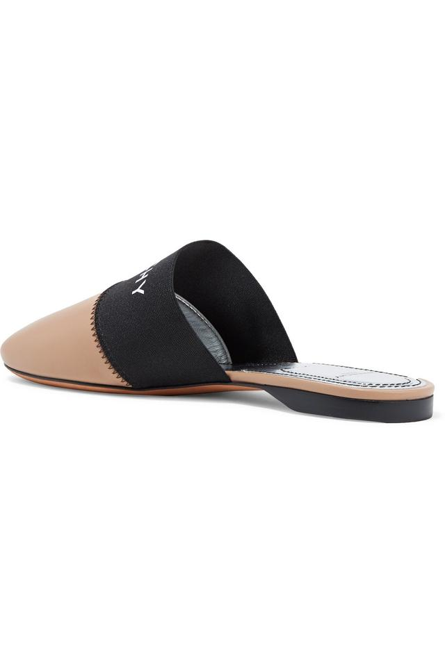 4752835f5f9c Givenchy Bedford Logo-print Elastic and Leather Slippers Flats Size ...
