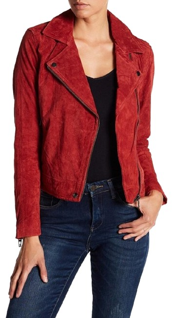 Item - Rust Red Suede Moto Jacket Size 8 (M)