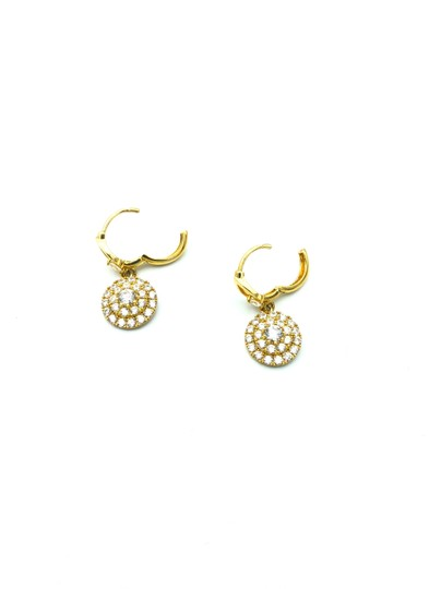 Other 14k yellow gold round pendant hanging earring Image 1
