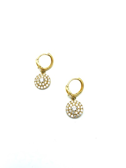 Other 14k yellow gold round pendant hanging earring Image 3