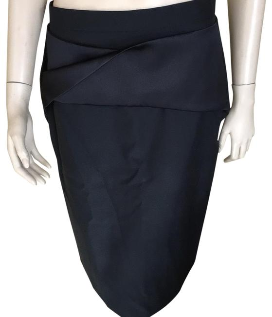 Balenciaga Black Fitted with Satin Detail Of Drop Waist Skirt Size 10 (M, 31) Balenciaga Black Fitted with Satin Detail Of Drop Waist Skirt Size 10 (M, 31) Image 1