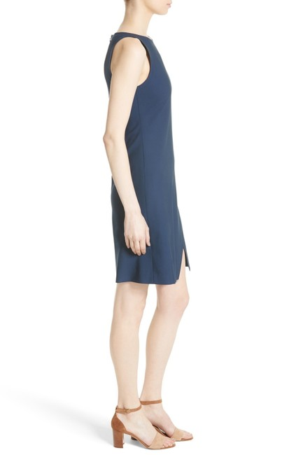 Theory Wool Boat Neck Lined Sleeveless Hidden Zipper Dress Image 1