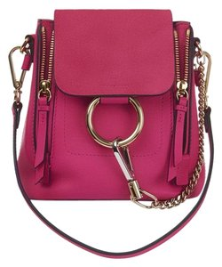 dcdf8c32 Chloé Faye New Fuchsia Rose Pink Suede Leather Backpack 19% off retail