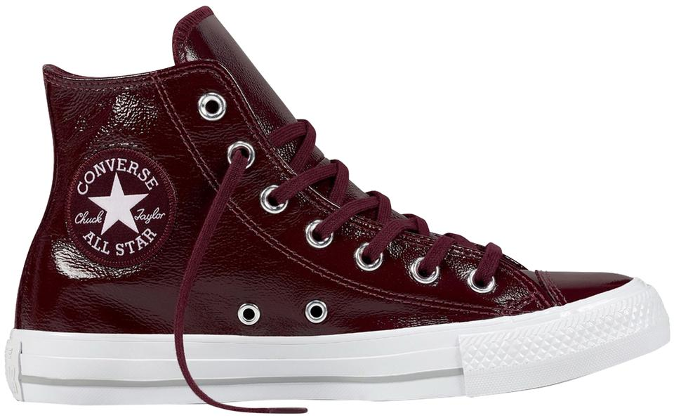 16415c0300d433 Converse Dark Sangria Patent Leather Chuck Taylor All Star High Top Sneaker  Sneakers