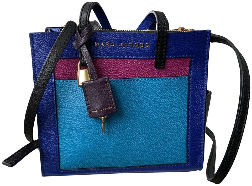 14044cf78f8 Marc Jacobs Colorblock Grind Mini Tote Multicolor Leather Cross Body ...