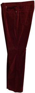 Ann Taylor Jeans Valentine's Holiday Wear Straight Pants Red velvet