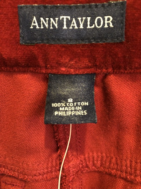 Ann Taylor Jeans Valentine's Holiday Wear Straight Pants Red velvet Image 1