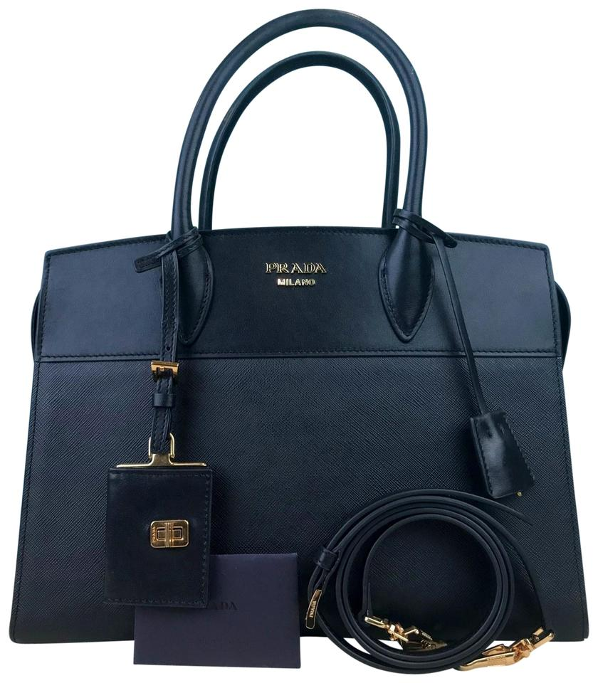 d1e131f633e3 Prada Saffiano Leather Esplanade Shoulder Tote in Black Image 0 ...