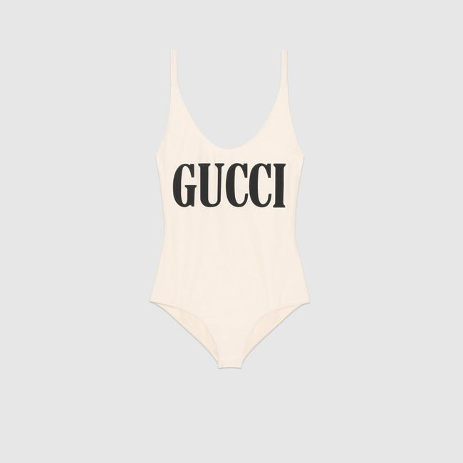 Gucci NEW Gucci Sparkling Swimsuit White One Piece Small Image 3