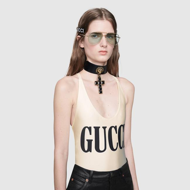Gucci NEW Gucci Sparkling Swimsuit White One Piece Small Image 4