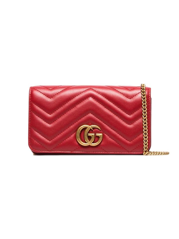 ab6024dcef2c Gucci Marmont Chevron Quilted Leather Cross Body Bag - Tradesy