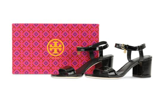 Tory Burch Velour Black Sandals Image 11