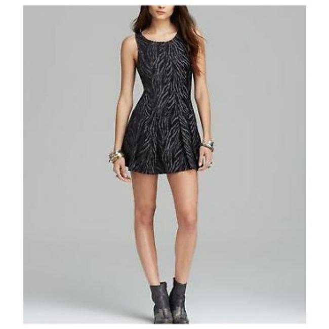 Free People short dress Black and grey on Tradesy Image 2