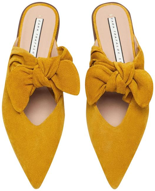 Item - Mustard New Leather with Bow 2019 Sold Out Mules/Slides Size US 6.5 Regular (M, B)