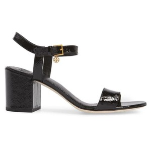 Tory Burch Velour Black Sandals