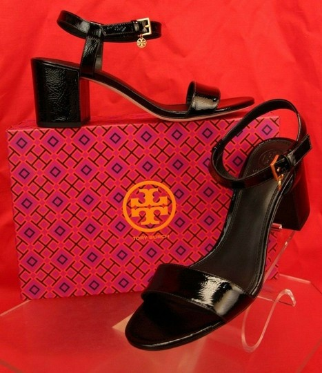 Tory Burch Velour Black Sandals Image 2