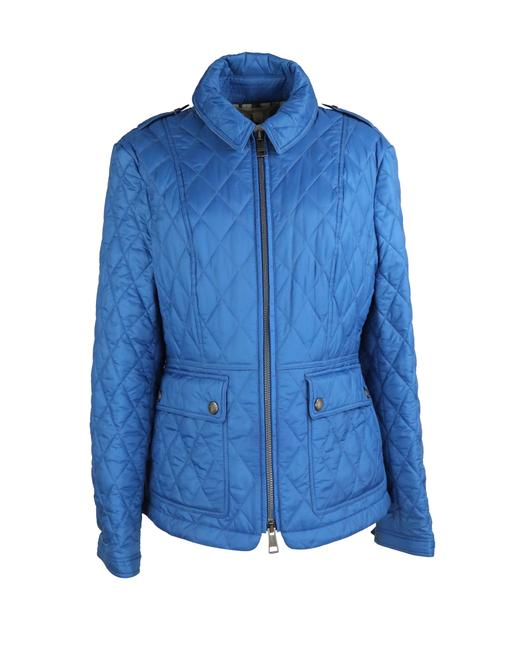 Item - Blue Ivymoore Quilted Zip Nova Check Jacket Size 16 (XL, Plus 0x)
