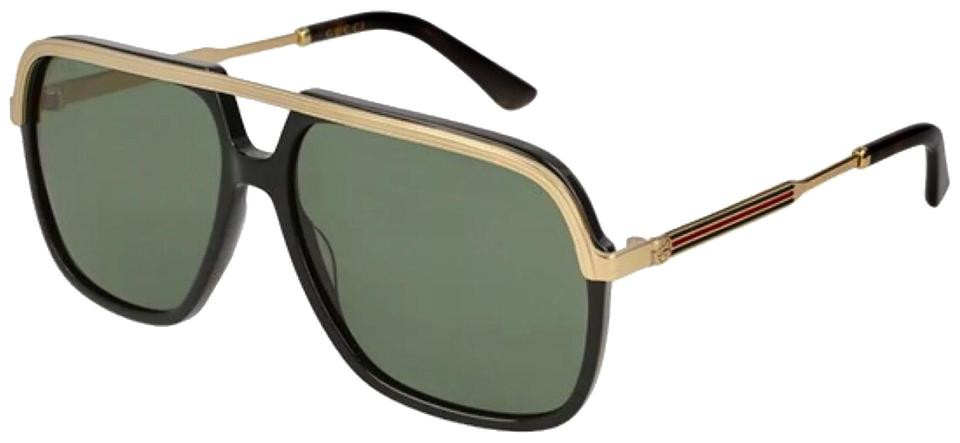 4d794419ab450 Gucci Gold Green Aviator Gg0200s 001 Sunglasses - Tradesy