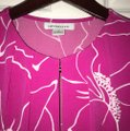 Liz Claiborne Flowers Office Work Summer Classy Top Pink Image 4