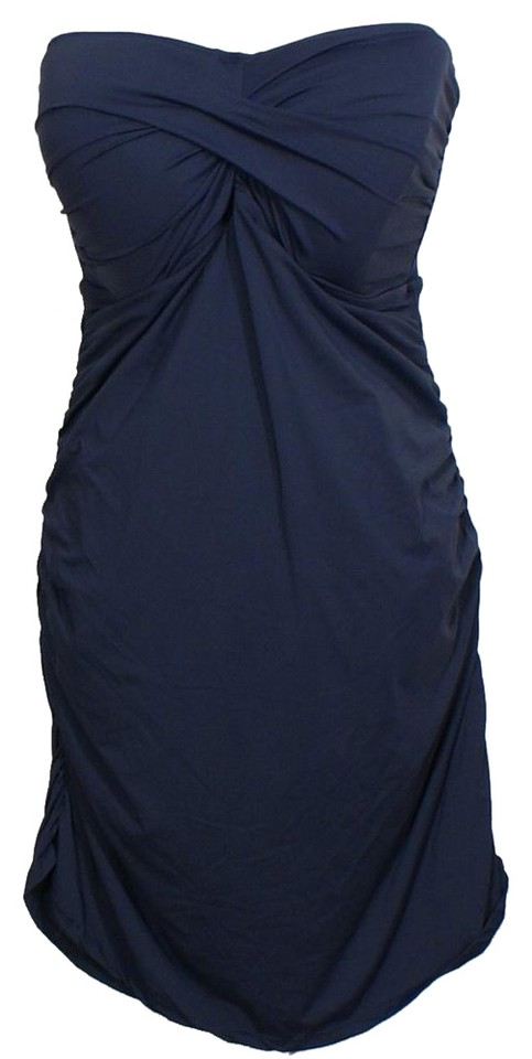 cf925e6539 Anne Cole Navy Blue Twist Front Strapless Swimdress Swimsuit 3x One-piece  Bathing Suit