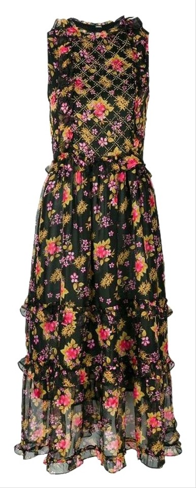 Dodo Bar Or Black Dress.Dodo Bar Or Black Multi Foral Simmone Mid Length Short Casual Dress