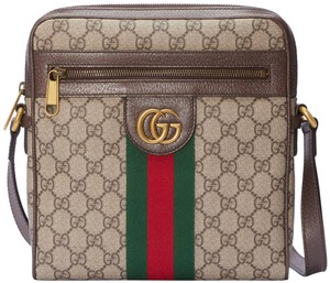 52a718befe2a8 Added to Shopping Bag. Gucci Ophida Messenger Small Web Cross Body Bag.  Gucci New Ophidia Gg Supreme Small Brown Canvas ...
