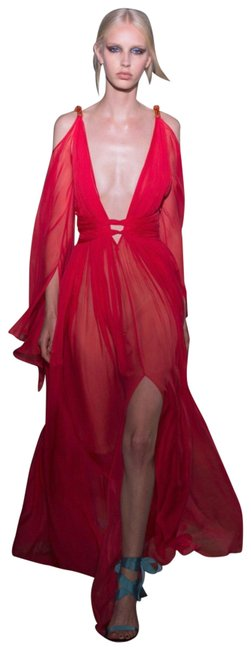 Preload https://img-static.tradesy.com/item/24778164/red-v-neck-sleeveless-silk-chiffon-gown-in-long-casual-maxi-dress-size-4-s-0-1-650-650.jpg