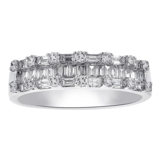 Preload https://img-static.tradesy.com/item/24778287/avital-and-co-jewelry-14k-white-gold-100-carat-baguette-and-round-cut-diamond-wedding-eternity-band-0-0-540-540.jpg