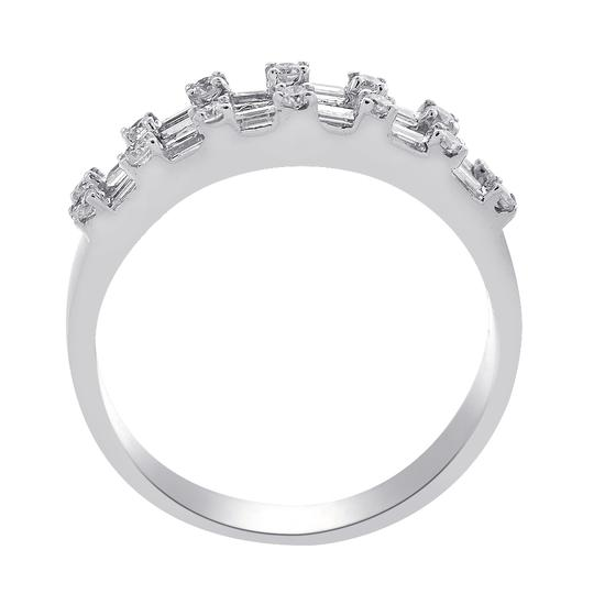 Avital & Co Jewelry 1.00 Carat Baguette and Round Cut Diamond Wedding Eternity Band Image 1
